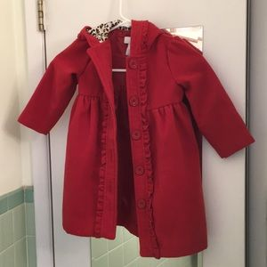 Like new Camilla red girls hooded long coat